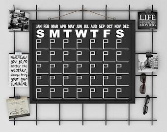 Decal Calendar - Calendar - Chalkboard - Decal - Planner - Chalkboard Calendar - Chalkboard Decal - Calendar Decal - Office - Dry Erase