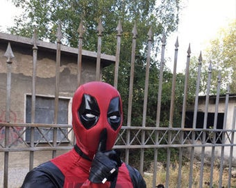 Deadpool costume w/ SHELL mask and DEFERRED payment plan with included shipping