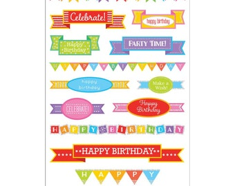 Mrs. Grossman's Stickers - Birthday Banners