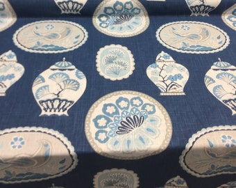 P Kaufmann Imperial Treasure Sapphire Fabric by the yard