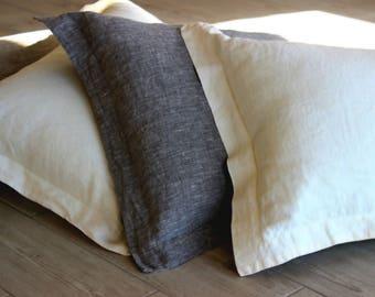 Linen Pillowcase oxford style. Stone washed pillow case cover slip. Oxford pillowcase 100% & Linen pillowcase | Etsy pillowsntoast.com