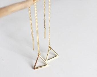 """mizu"" triangle earrings"