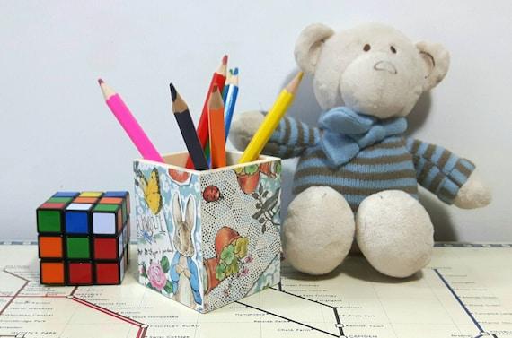 Amigurumi Bunny Pencil Holder : Items similar to Peter Rabbit Pencil Pot, Peter Rabbit ...