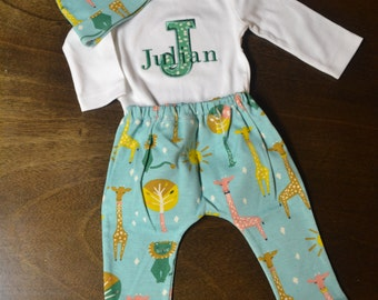 Personalized Baby Boy Outfit, Baby Boy Clothes, Baby Boy Coming Home Outfit, Baby Boy Gift, Baby Boy Outfits