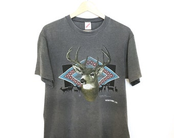 Vintage 80's Hipster/Deer T-shirt. Paper Thin.