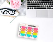 2 Dollar Tuesday - Bill Due Labels - Planner Stickers