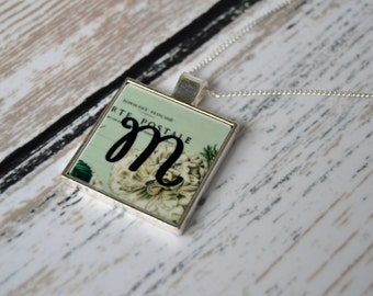 Initial Pendant Necklace - Personalized Jewelry - Letter Necklace - Gift for Her - Mother's Day Gift - Initial Necklace - Bridesmaid Gifts