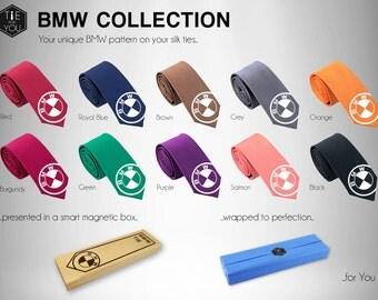 BMW Sport Silk Tie - Automotive - Car Tie - Slim Tie - Wedding Tie, Christmas Gift, Birthday Gift-FREE UK Shipping
