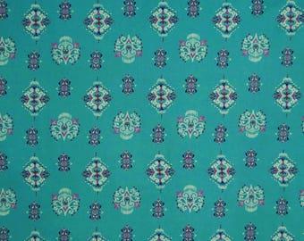 "Home Decor Fabric, Floral Print, Aqua Blue Fabric, Dressmaking Fabric, Sewing Crafts, 52"" Inch Rayon Fabric By The Yard ZBR328A"