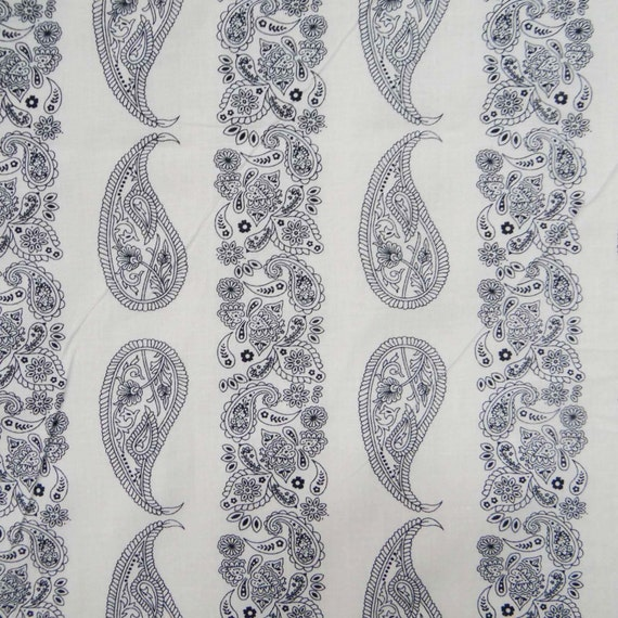 Indain designer fabric black paisley print cotton fabric for Decor 55 fabric