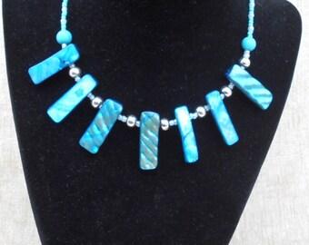 Turquoise Shell Necklace & Bracelet