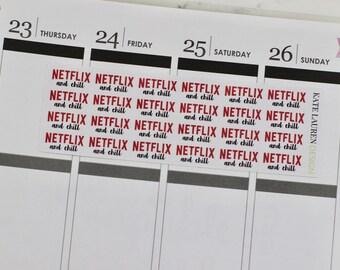 Netflix Planner Stickers, Netflix and Chill, Netflix Stickers, TV Night Stickers, TV Planner Stickers, Movie Planner Stickers, Movie Night