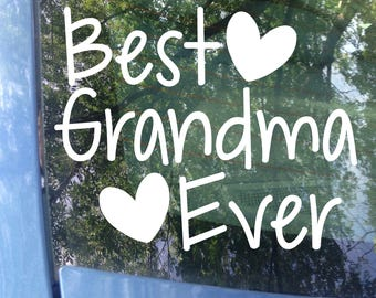 Best Grandma Ever Car Decal | Mother's Day | Grandparents Day | Nana | Grandma | Grandparent | Grandkids | Grandma Sticker | Gift | Decal