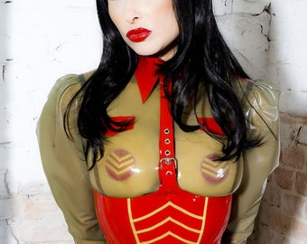 Military Latex Blouse