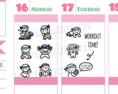 Munchkins - Mixed Workout Cardio, Weights, Stretching Planner Stickers (M286)