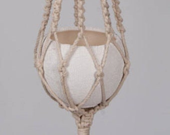 Macrame plant hanger, macrame hanging flowerpot, plant hanging the  cotton cord 5 mm.