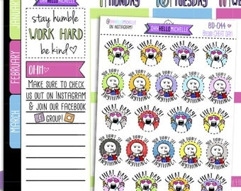 Cheat Day Beedoo BD-044 | 22 Hand-drawn Planner Stickers