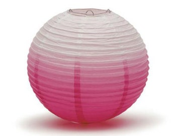 """14"""" Large Pink Ombre Paper Chinese Lantern/Party Decor/Pink Ombre/Hanging Decoration/Table Backdrop/14""""Inch"""
