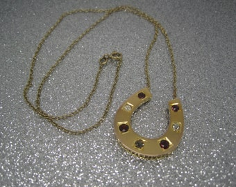 Antique Victorian gold horseshoe conversion necklace