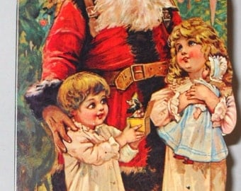 Vintage FATHER CHRISTMAS BOOK Mint hard to find B. Shackman Company Ship Worldwide!