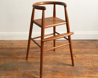Danish Modern Teak Adjustable Highchair by Nanna Ditzel for Kolds Savvaerk