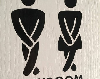 Bathroom/Toilet Door Decal