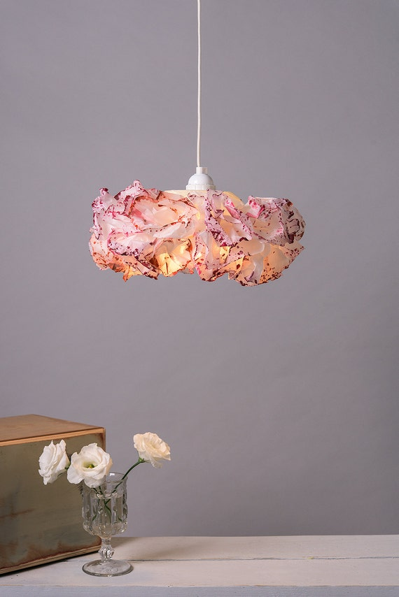 pink pendant l baby nursery room light paper by