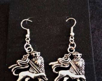 Rastafarian Lion Earrings