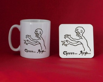 Buffy the Vampire Slayer Angel Mutant Enemy Inspired Coffee Tea Mug 10oz Joss Whedon and Coaster