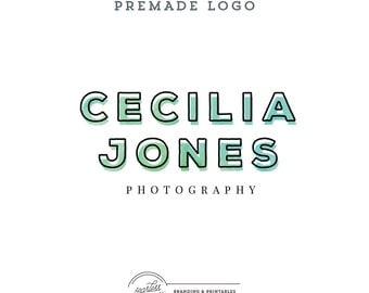 Minimal Watercolor Premade Logo Design, Business Feminine Logo, Watercolor Logo, Feminine Branding, Premade Logo Design, Logo and watermark