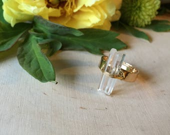 real crystal ring, gift for her
