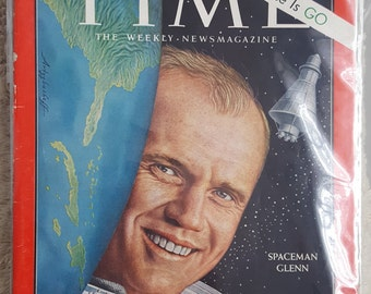 TIME Magazine from March 2, 1962 with John Glenn on the cover