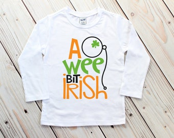 Boy St Patricks Day Shirt - Toddler St Patrick's Day - Shamrock Shirt - Saint Patricks Day Tee - A Wee Bit Irish Tee - St. Patrick's Outfit