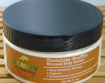 Chocolate Souffle Whipped Body Butter, Whipped Cocoa Butter, Whipped Shea Butter, Whipped Mango Butter, Whipped Body Butter, Body Souffle