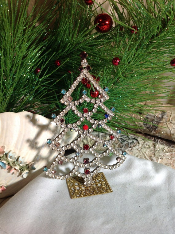 small rhinestone christmas tree brilliant crystal tree stand. Black Bedroom Furniture Sets. Home Design Ideas