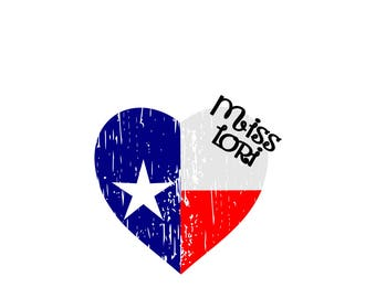 Texas  Flag   Heart distressed SVG Cut file  Cricut explore file 4th of July t shirt decal