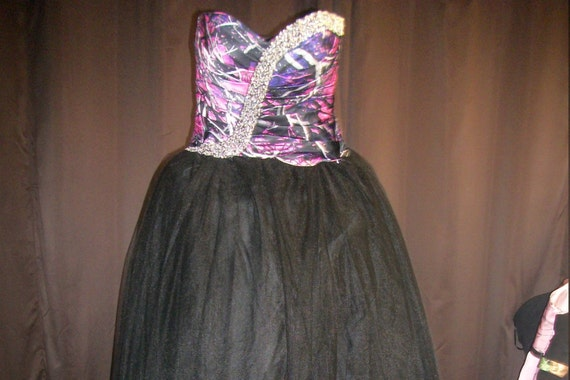 Camo Prom Dress Muddy Girl Black Tulle Beading Was 200 Now