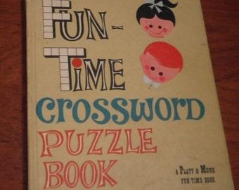 SALE** Fun-Time Crossword Puzzle Book (Hardcover)