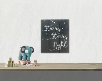Wood Signs Nursery - Baby Nursery Decor - Baby Shower Gift - Nursery Wall  Decor - Starry Starry Night Nursery Decor - Stars Wood Sign