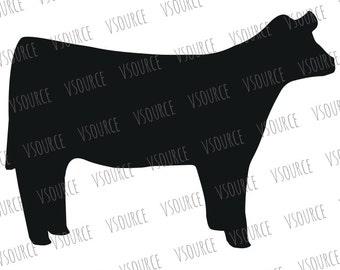 Show Heifer SVG - Show Cattle SVG - Cow SVG - Heifer Clipart - Cow Art - 4H Heifer - Ffa Heifer - Silhouette, Cricut- Show Heifer Cut Files