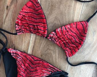 Tiger Luxe Tie Bikini