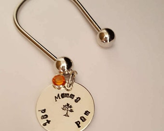 Keyring for Momma // Mothers Day Gift // Personalize a keyring for Mom or Step Mom .