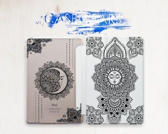 Sun and Moon Mandala Case iPad 9.7 Cover iPad Pro Case 12.9 iPad Case Pro 9.7 iPad Air iPad 2 iPad 3 Case iPad Pro 9.7 Cover iPad 3 CGSC022