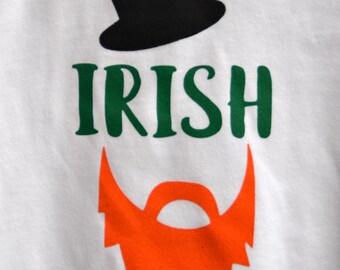 St. Patrick's Day Irish white short-sleeved adult tee. St. Patrick's Day. Irish shirt. Leprechaun shirt. Irish graphic tee.