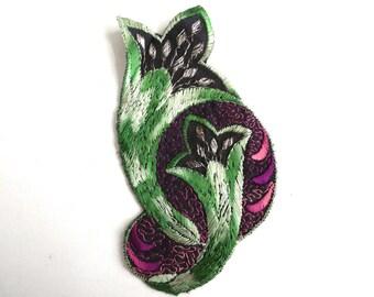 Antique Applique, Flower applique, 1930s vintage embroidered applique. Vintage floral patch, sewing supply. #64AGC8K2C