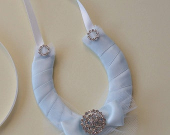 something blue/ lucky wedding gift/ wedding keepsake/ wedding horseshoe/ horseshoes/ lucky horseshoe/ gift for bride/ bride gift/