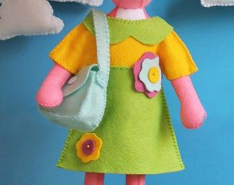 Tilly Pig PDF Pattern. Felt plush toy pattern, Felt Animal pattern, Pig sewing pattern, felt hand-sewing, DIY Sewing, Pig pattern