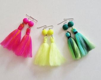 Tassel Earring / Neon Earring