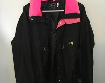 SALE Everything 12 Dollars//Large Black & Pink CB Sport Snow Jacket