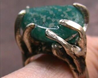 Annello di argento con Amazonite di Russia